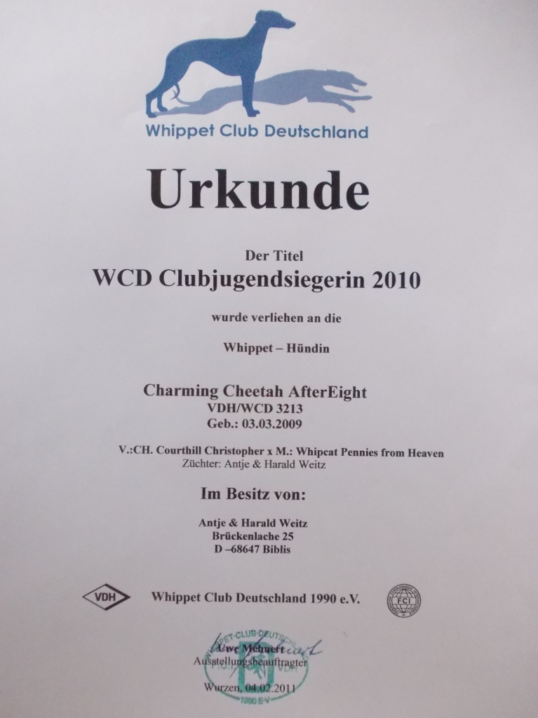 WCD Club-Jugend-Sieger 2010
